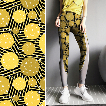 Dry fit sports yoga legging fabric digital printing on fabric