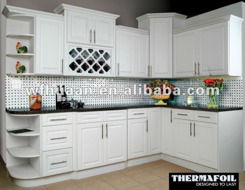 2015 American Type Pvc Thermofoil Kitchen Cabinet Design   Buy Kitchen  Cabinet Design,Kitchen Model,Kitchen Cabinet Product On Alibaba.com
