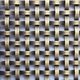 bronze Plated decorative wire mesh for cabinets Metal screen