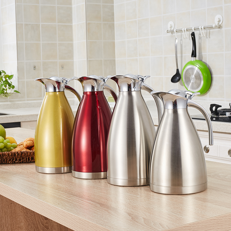 stainless steel coffee pot/double wall vacuum coffee flask/colorful insulation water flask