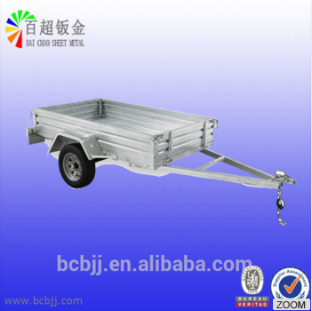 Custom Sheet Metal Structural hot galvanized steel trailer frame fabrication