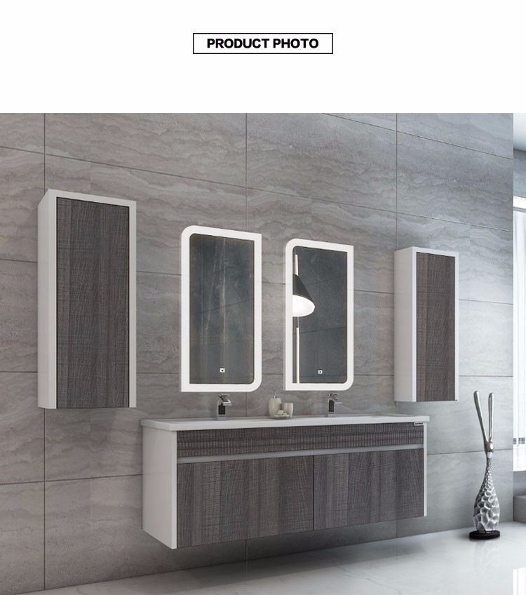 EC809-12 China manufacturer modern double sink mirror cabinet bathroom