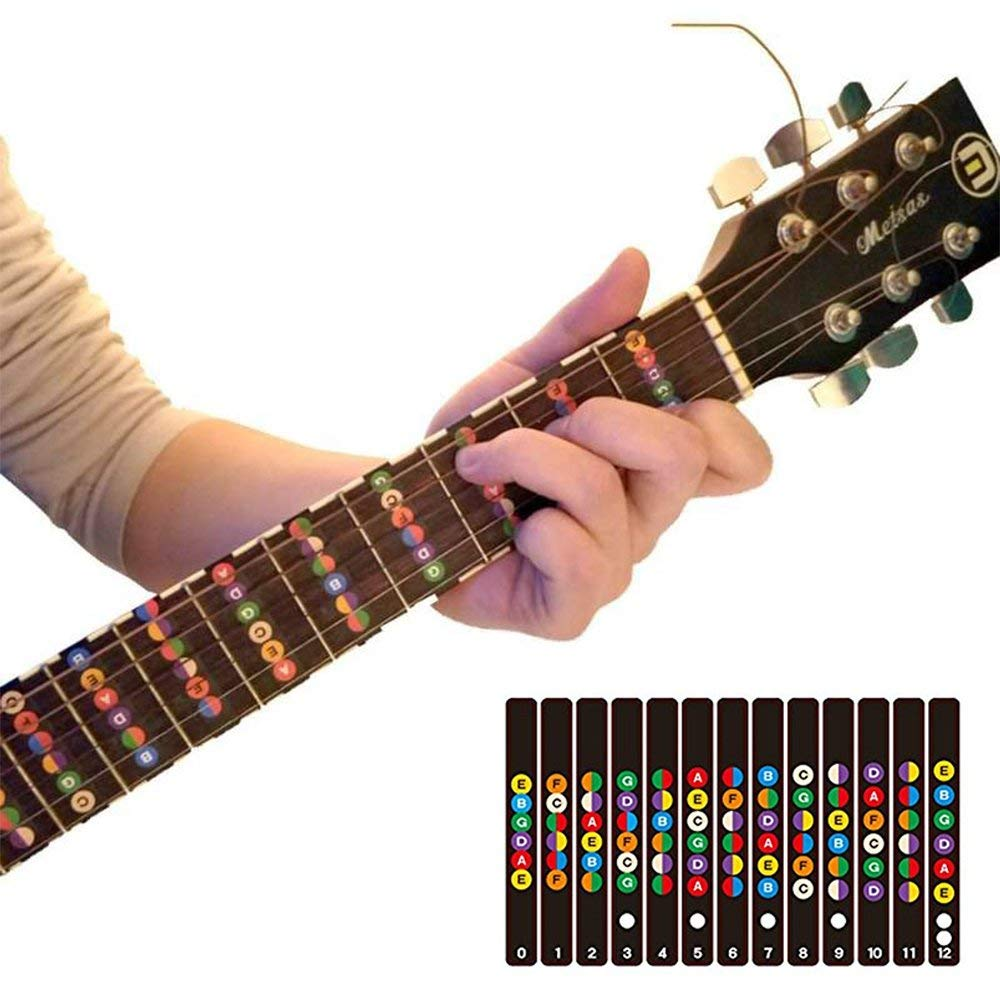 Sports & Entertainment Friendly Guitar Fretboard Notes Map Labels Beginner Fingerboard Fret Scale Mark Sticker Decals For 6 String Guitar Training Accessaries Guitar Parts & Accessories