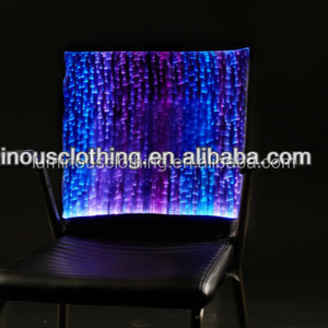 Fancy Hanging Moon Decorative Dining Table Chair Covers Factory Luminous Decor In Shenzhen LED Lighted Up Chair Cover