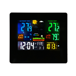 Multi Room Color Screen Large LED Display 433MHZ Wireless Thermometer Weather Station