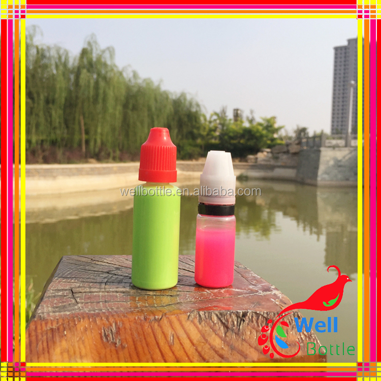 Small plastic vials 5ml dropper bottle for eliquid childproof & tamperproof cap braille triangle plastic bottle