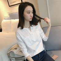 B20970A Summer new fashion Korean ladies cotton long sleeved wholesale T-shirt