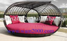 patio aluminum pe rattan sunbed for outdoor