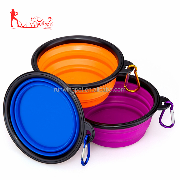 Wholesale Collapsible Silicone Pet Bowl Food Water Feeding Portable Travel Bowl