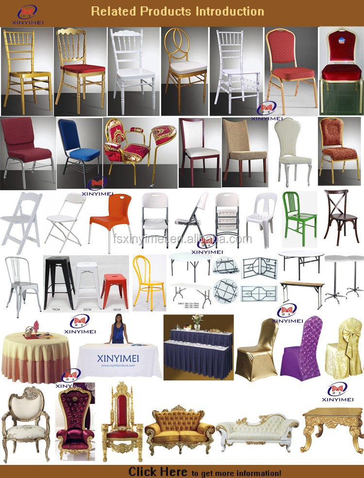 Modern Durable Wedding Party Tables And Chairs