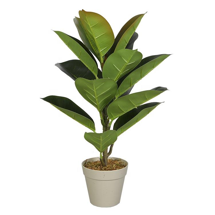 50cm Chêne Artificiel En Caoutchouc Ficus Nouvelle Tendance de Plantes Artificielles Pour La Décoration De La Maison