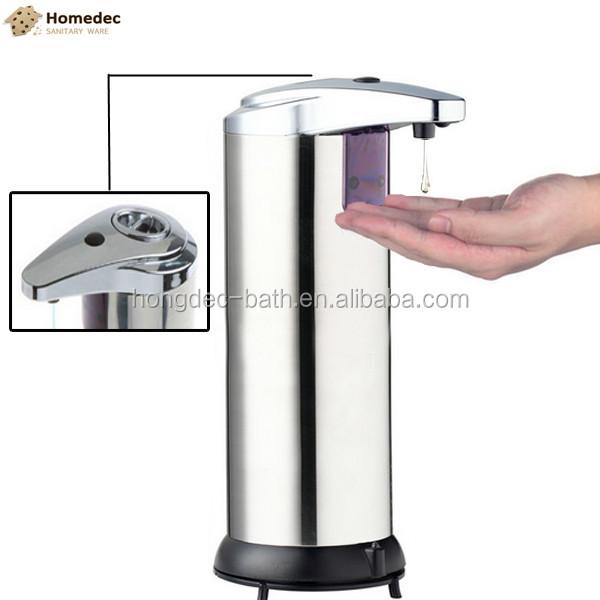 SUS 304 Stainless Steel Touchless Automatic liquid Sensor Soap Dispenser