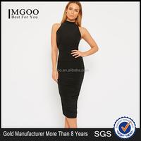 Highyt Quality Fashion Office Formal Dress Plus Size Western Dress Elegant Black Dress For Women