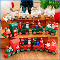 Lovely Innovative Gift DIY Christmas Decoration Handmade Train Wooden Toy