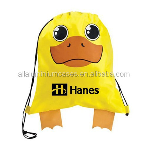 Carton Design Animal Polyester Drawstring Bag/ Sports Bag - Buy ...