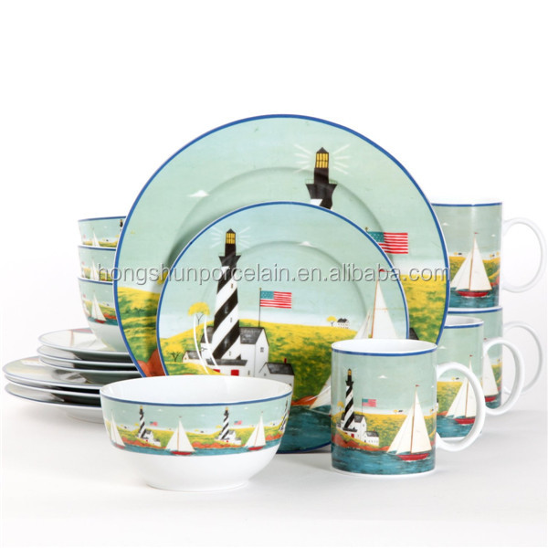 16pcs disposable tableware / restaurant serving dishes / kitchen crockery