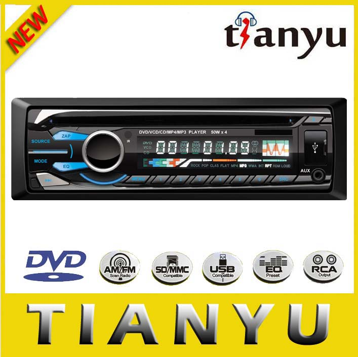 one din car dvd with video audio accept OEM order