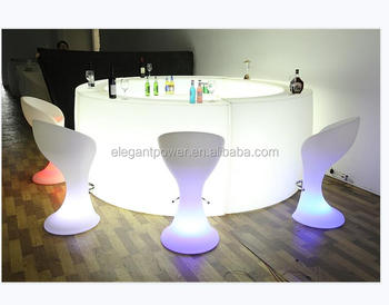 Elegant Ip 68 Water Proofportable Bar Mobile Table Counter Led Furniture