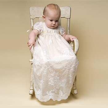 8b7827796 New Lace Overskirt Christening Dresses For Baby Girl With hat Baptism Gown  Cheap Kid First Communication