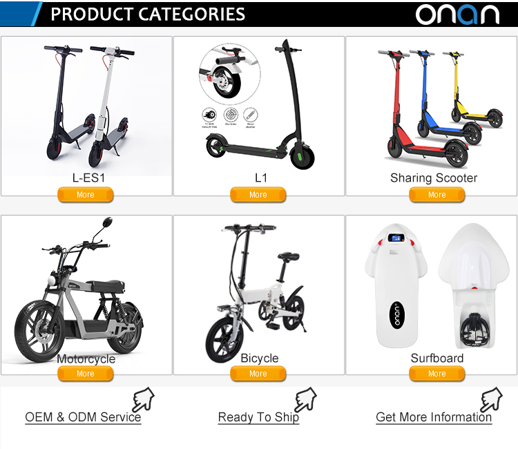 EU/US warehouse ONAN L-ES1 sharing electric scooter rental with GPS APP