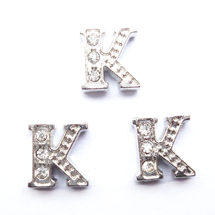 Hot selling factory price zinc alloy floating locket charms letter charms for glass memory lockets