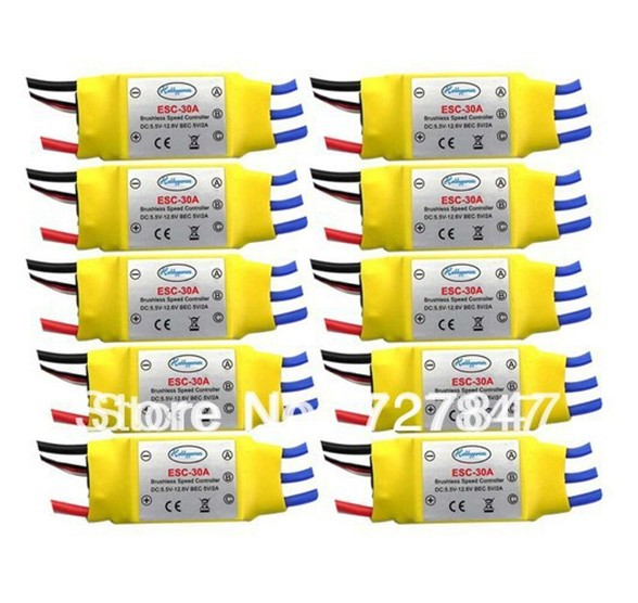LHM009 10PCS 30A Brushless 450 helicopter multicopter Motor Speed Controller RC ESC +Free shipping