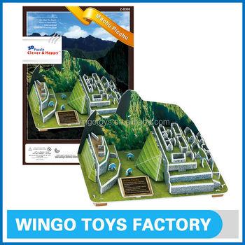 Machu Picchu 3d Paper Model Diy Educational Toy - Buy 3d Paper Model  Diy,Cheap Diy Paper Toy,3d Toy Product on Alibaba com