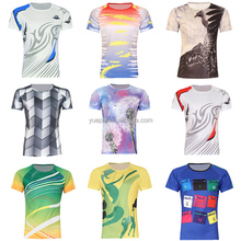 Comfortable short sleeve 100 polyester dye sublimation t shirt custom print logo