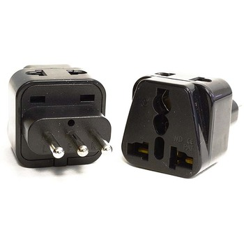 Italia Rotonda Pin Tipo L Travel Adaptor AC Plug Power per Universale UK USA AUS EURO