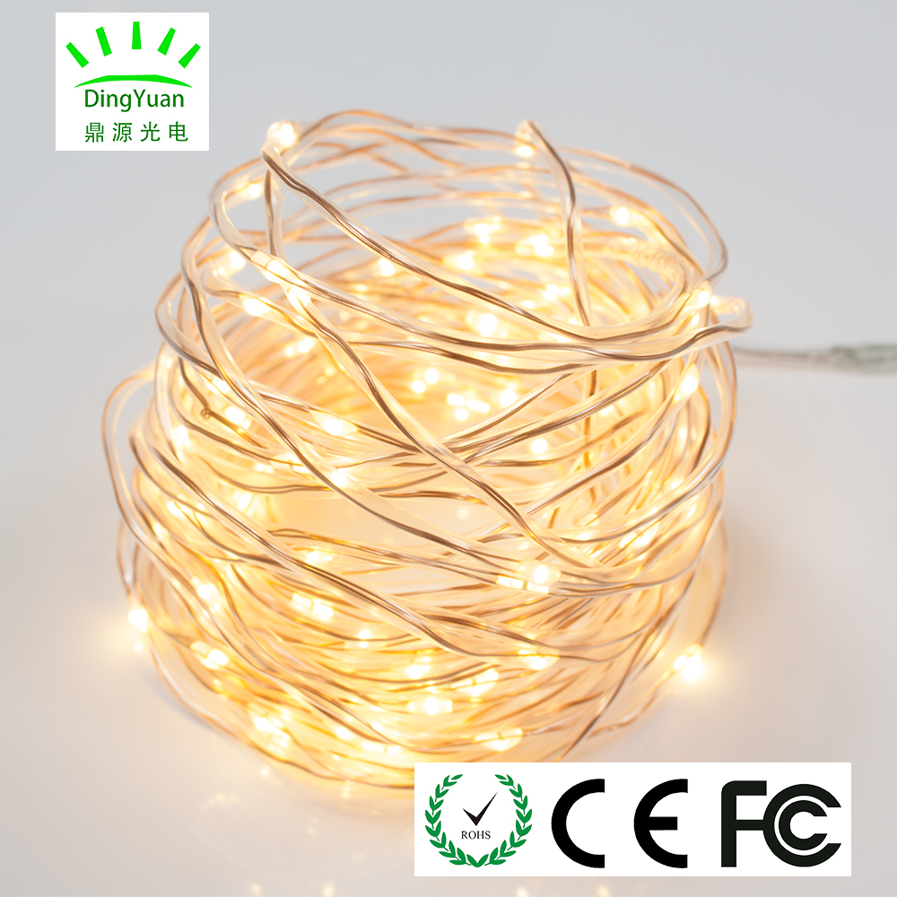 Hot sale factory direct price warmwhite 10M 100L garden light solar for inddor outdoor fairy mood decoration