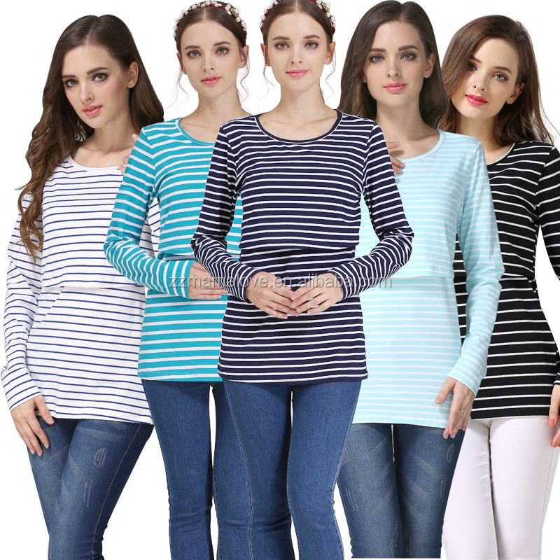 MamaLove Maternity clothing maternity tops nursing clothes Breastfeeding Tops Nursing Top pregnancy clothes for Pregnant Women