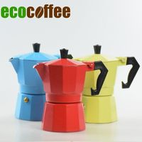 espresso amazon hot popular aluminum home use office coffee maker Three color colorful moka pot