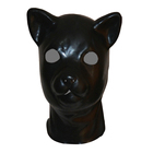 New hot 3D latex human animal mask hood closed eyes fetish hood w red mouth sheath tongue latex sexy costumes