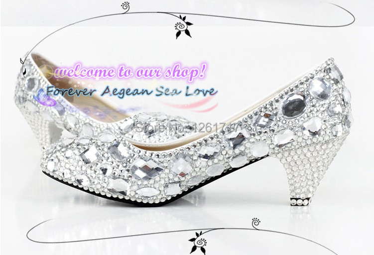 Buy Free Shipping Fashion Closed Toe Low-heeled Sparkling Silver Shoes for  Graduation Party Wedding Bridal Shoes Evening Shoes in Cheap Price on  Alibaba.com ea82b2627344