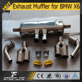 Jc Auto Parts Steel Lm Style Exhaust Muffler For Bmw X6 E71 4 4t Xdrive 50i Buy Exhaust Muffler For Bmw X6 X6 Exhaust Muffler Exhaust Muffler For