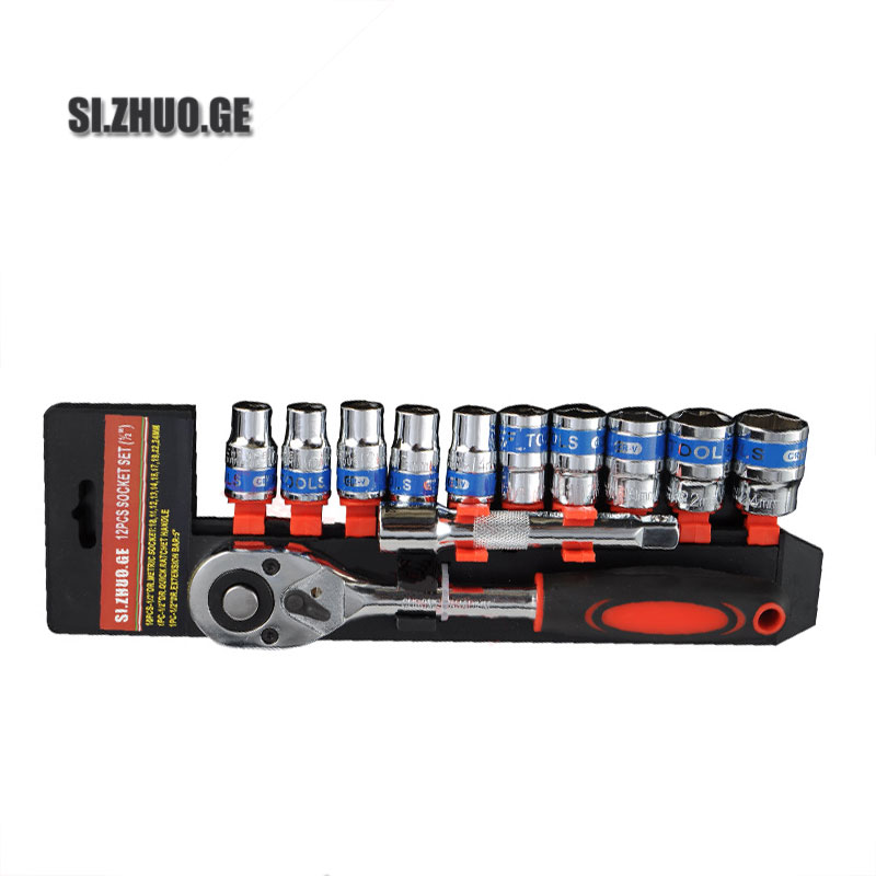 Direct deal socket wrench set omnipotence 12 pcs ratchet wrench Multifunctional Tool
