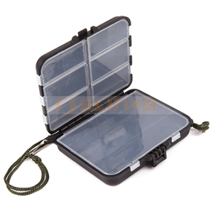 Plastic Fishing Tackle Box Compartments Fishing Bait Minnow Tool Box