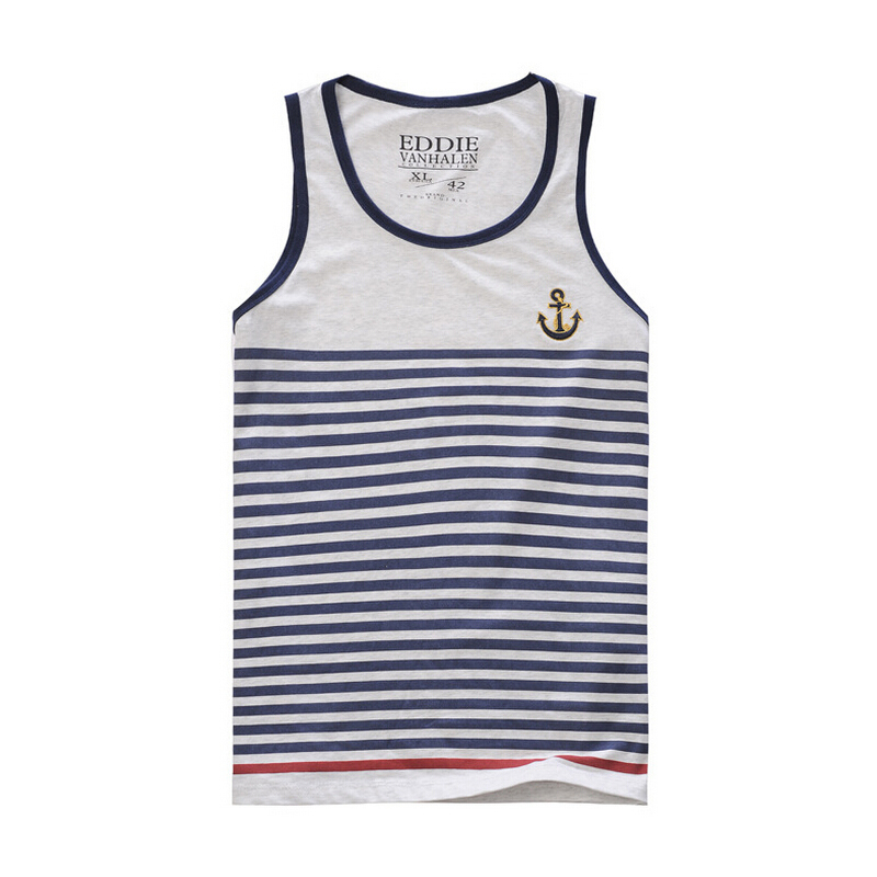 Mens Tank Top Stripes Sleeveless T Shirt Men Bodybuilding Clothing and Fitness Athletic Vest Undershirts Singlets Muscle Tops
