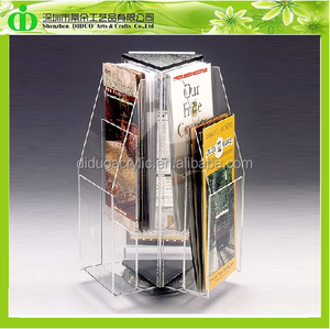 DDE-B033 Rotating Plexiglass Brochure Display Stand 3D Model