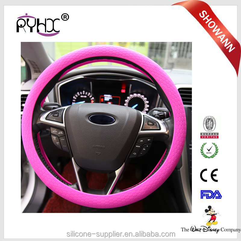 SGS Approval Silicone Rubber Car Steering Wheel Cover For Skoda Superb