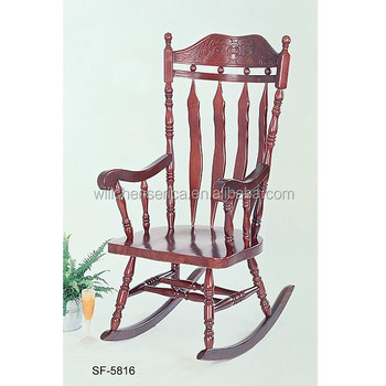 online retailer 56045 8bbbc Solid Wood Rocking Chair - Buy Wood Relaxing Chair,Antique Rocking  Chair,Solid Wood Arm Chairs Product on Alibaba.com