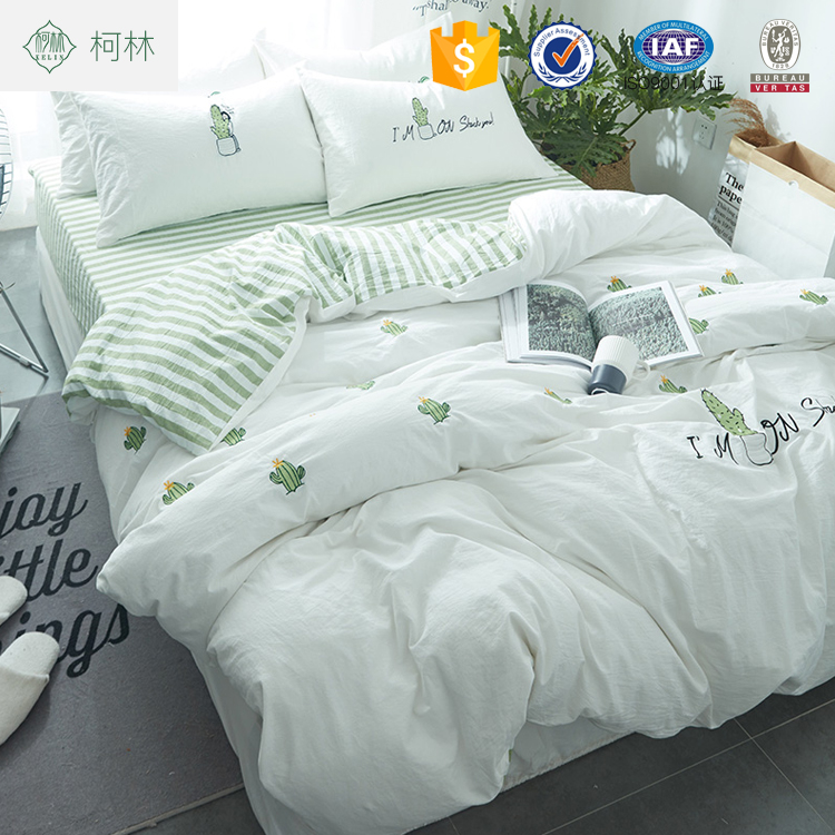 Christmas 100% cotton 3d printed hotel bedding set