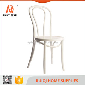 White wooden dining room chair solid thonet bentwood chair