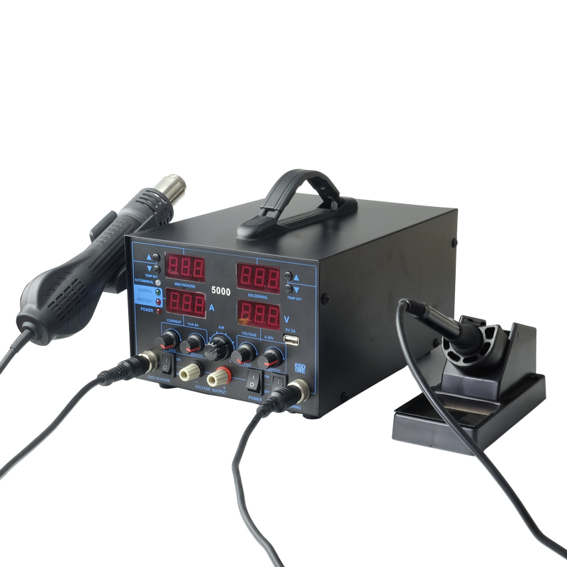 HAPREAL 5000# professional soldering station with DC Power Supply 30V 5A 4 in 1 welding machine USB 5V 2A