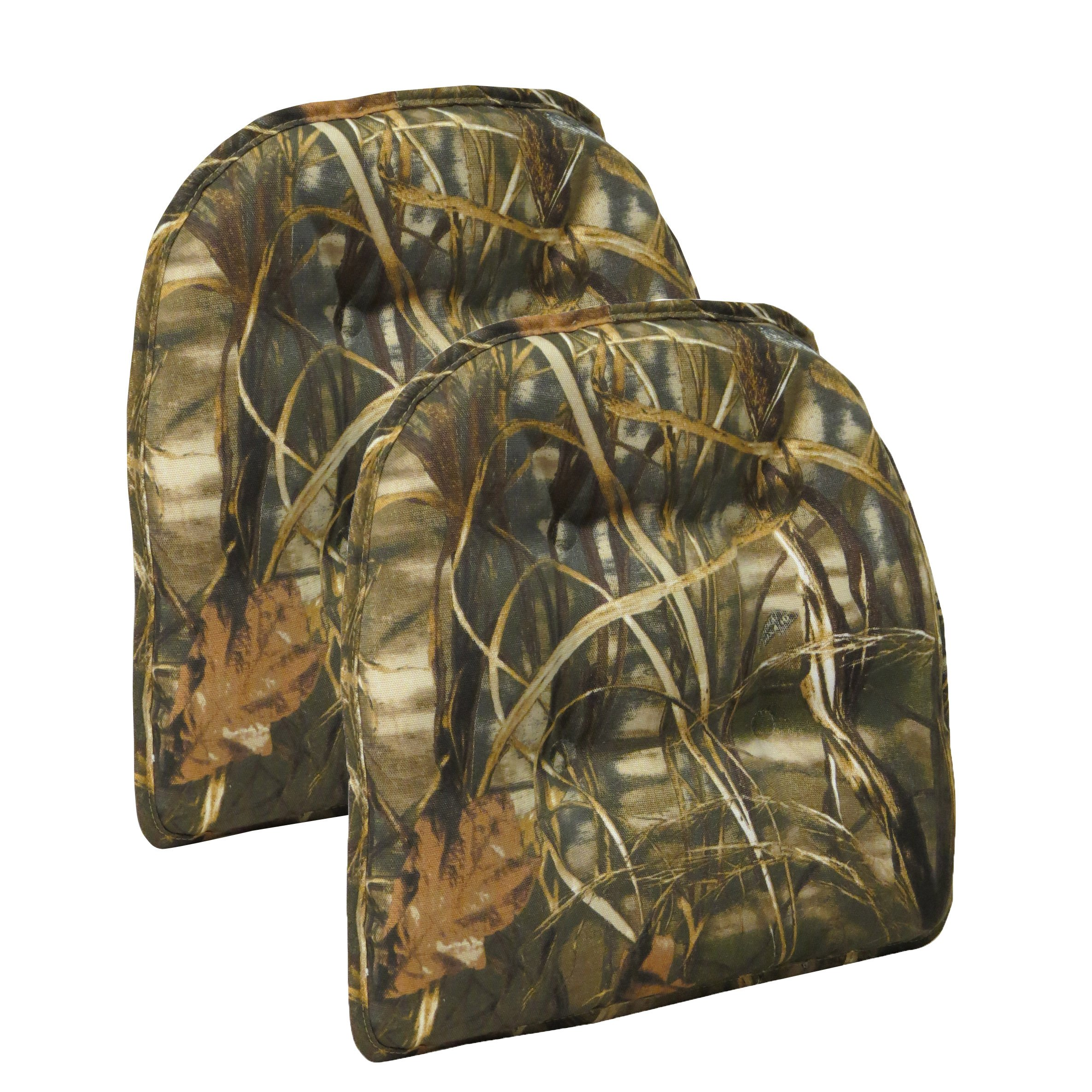 Get Quotations · Non Slip Gripper Realtree Camouflage Tufted Chair Cushions  (set Of 2)