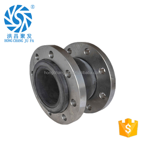 Dn100 pn16 double rubber bellow pump coupling flange joint price