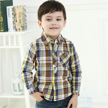 6861c31b3344b Nouveau coton enfants chemises bébé garçons vêtements pour le printemps  automne-été enfants vêtements à