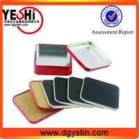 Group Promo Square Tin Box With 4 tin Coaster Sets
