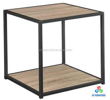 97ae63a05d Modern bed night stand metal frame wooden sofa square cube side table end  table