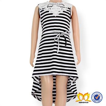 Vestidos largos casuales blanco y negro